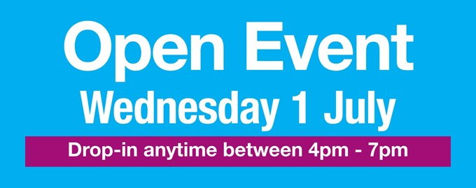 Open Event - Wednesday 1st July 2020