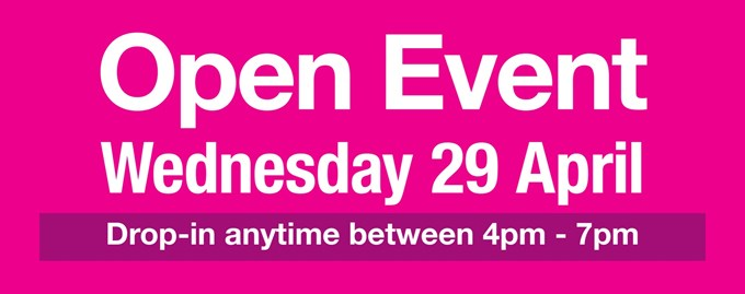 Open Event - Wednesday 29th April 2020