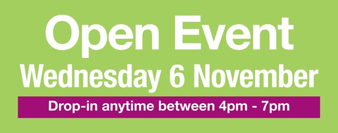 Open Event - Wednesday 6th November 2019